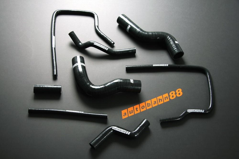 Autobahn88 Silicone Radiator Heater hose kit for Subaru Impreza WRX / WRX STi GC8 96-00 Black - ASHK01-BK