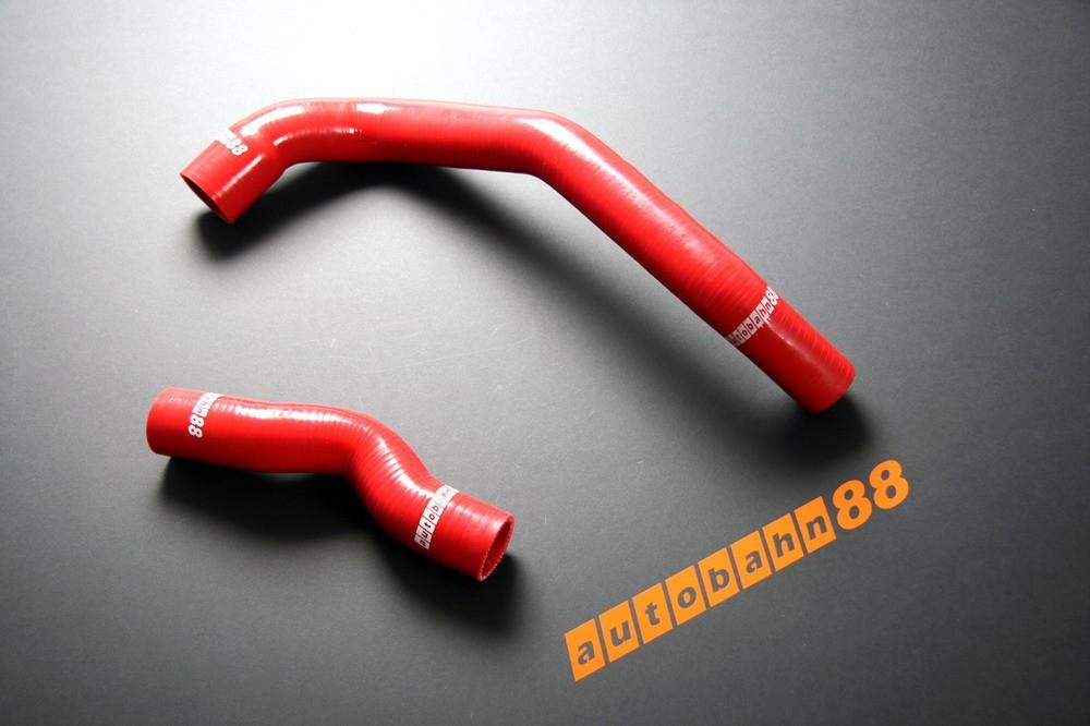 Autobahn88 Silicone Radiator hose kit for Nissan Skyline R32 2.0 RB20DET / 2.5 RB25DET Red - ASHK09-R