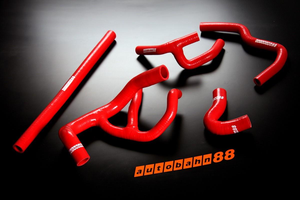 Autobahn88 Silicone Radiator hose kit for Rover Mini Cooper 1.3I Spi Red - ASHK104-R