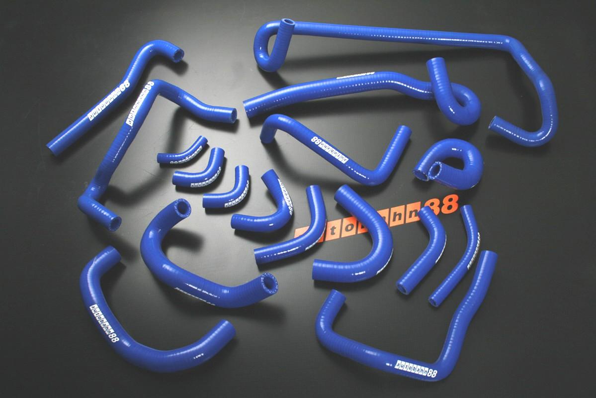 Autobahn88 Silicone Heater hoses kit for Nissan Skyline GTR R32 Blue - ASHK119-B