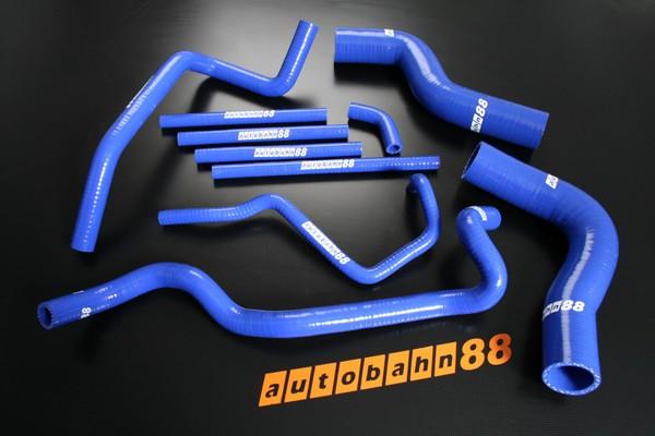 Autobahn88 Silicone Radiator Heater hose kit for Subaru Impreza WRX / WRX STi GC8 ver 1-2 Blue - ASHK124-B