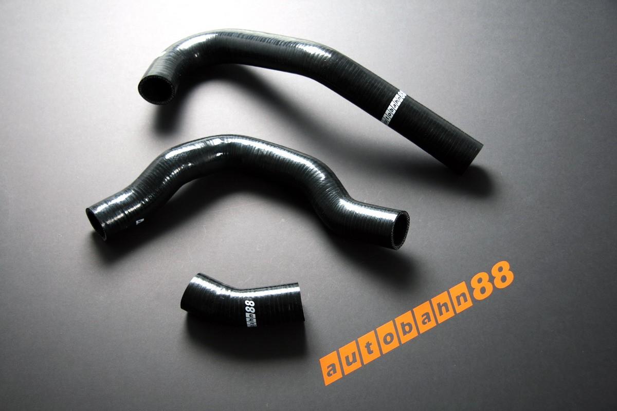 Autobahn88 Silicone Radiator hose kit for Nissan Silvia S13 ca18det 180SX Black - ASHK16-BK