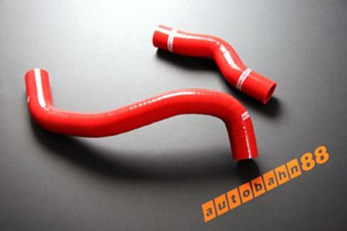 Autobahn88 Silicone Radiator hose kit for Nissan Silvia S13 sr20det 200SX Red - ASHK17-R