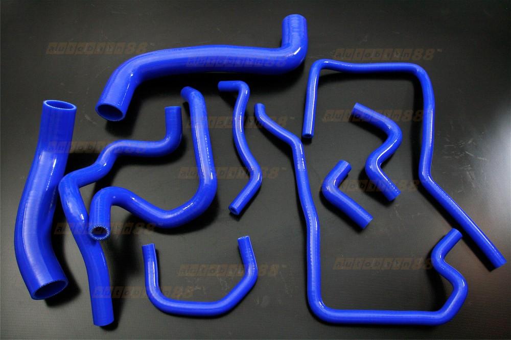 Silicone Radiator Heater Hose Kit for Subaru WRX GRB Version 10 Blue - ASHK212-B