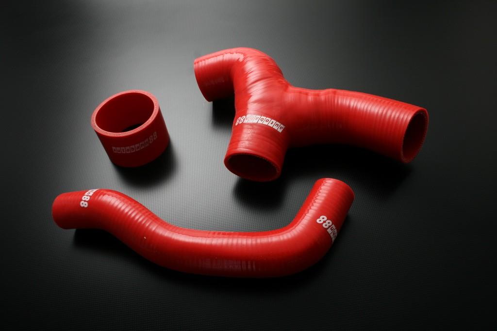 Autobahn88 Silicone hose Y- Pipe(non Sti) for Subaru WRX GDB 00-07 Red - ASHK40-R