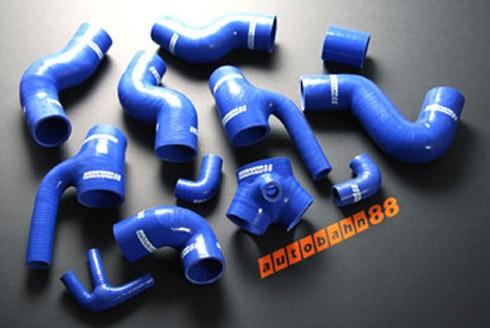 Autobahn88 Silicone Turbo Kit for Audi S4 Bi-Turbo kit 98-03 Blue - ASHK51-B