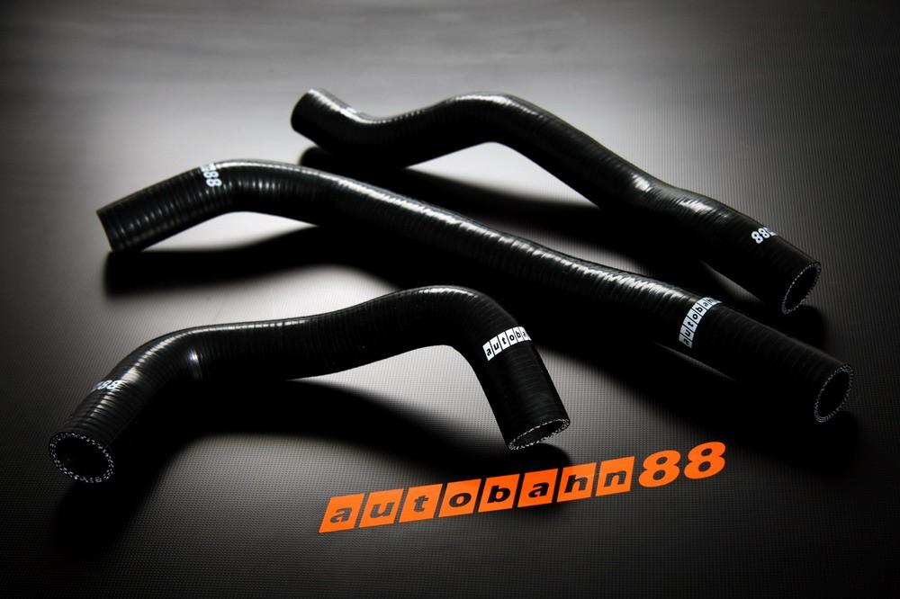 Autobahn88 Silicone Radiator hose kit for Mazda 6 Black - ASHK99-BK