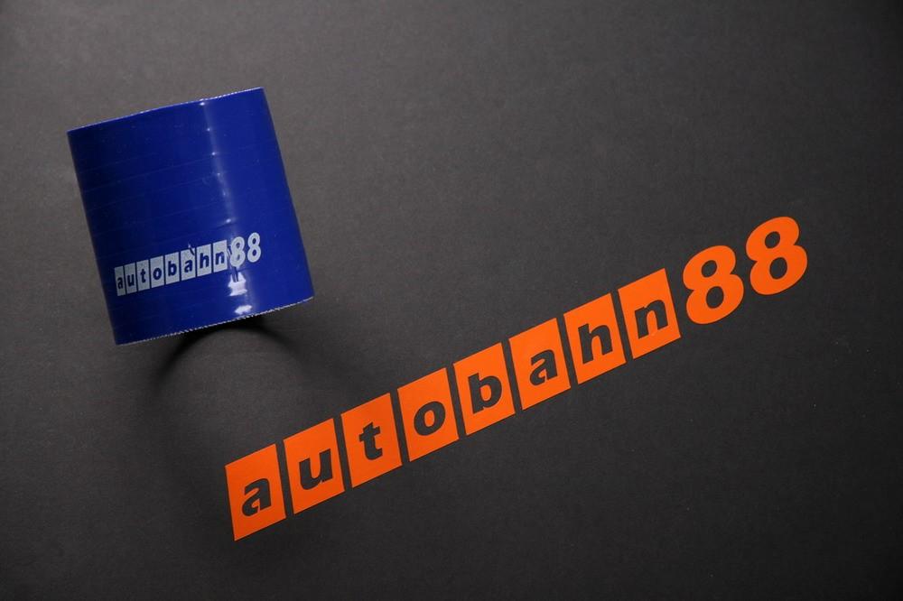 Autobahn88 102mm 4inch Straight Silicone Hose Coupler Blue - ASHU01-102B