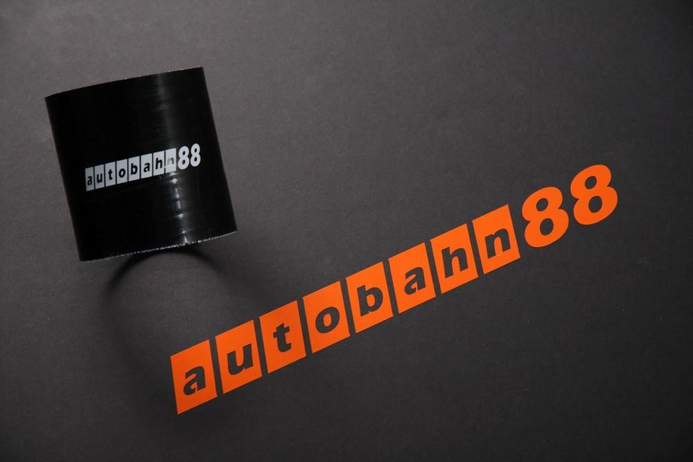 Autobahn88 64mm 2.5inch Straight Silicone Hose Coupler Black - ASHU01-64BK