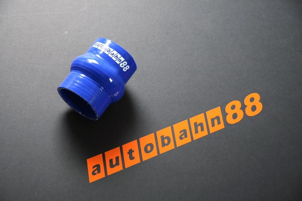 Autobahn88 102mm 4inch Silicone Hump Hose Blue - ASHU05-102B