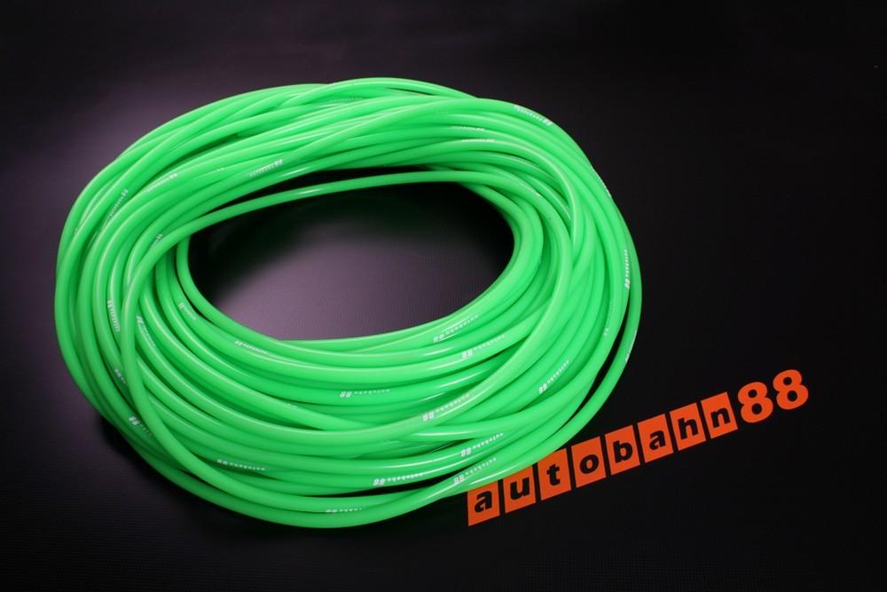 Autobahn88 3mm Silicone Vacuum Tube Hose 1 Meter Green - ASHU06-3G