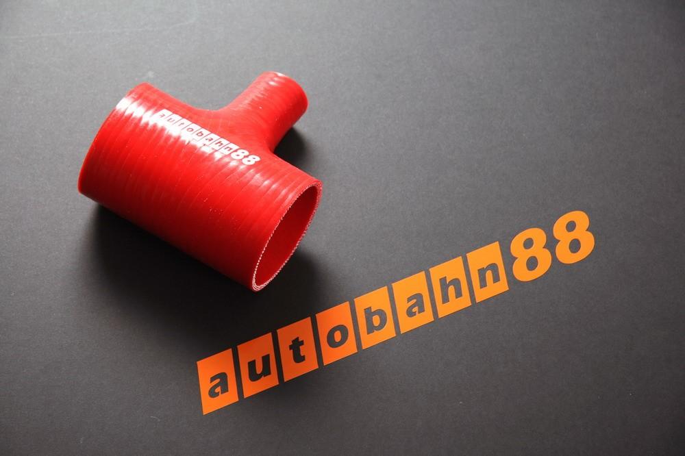 Autobahn88 76mm 3inch Silicone T-Piece Hose Red - ASHU07-76R