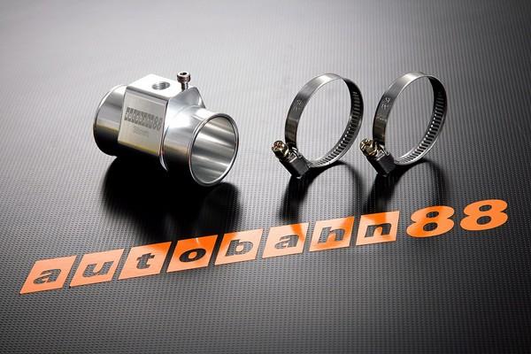 Autobahn88 30mm Tee-Joint Aluminum alloy Water Sensor Adaptors temp Gauge Hose Silver - ASHU60-30S