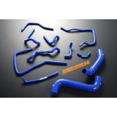 Autobahn88 Silicone Radiator Heater Hose Kit for Subaru Impreza WRX GDA/GDB (A-G) EJ205 /EJ207 (Blue) - ASHK02A-B