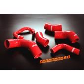 Autobahn88 Silicone Intercooler Hose kit for Mitsubishi Lancer Evolution 7-9 Red - ASHK106-R