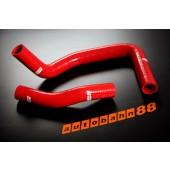 Autobahn88 Silicone Radiator hose kit for Toyota Trueno AE86 Red - ASHK109-R
