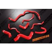 Autobahn88 Silicone Heater Hose Kit for VW Golf 2.0 FSI Red - ASHK112-R