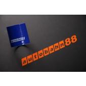 Autobahn88 84mm 3.31inch Straight Silicone Hose Coupler Blue - ASHU01-84B
