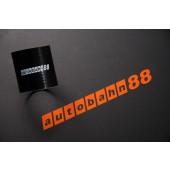 Autobahn88 114mm 4.5inch Straight Silicone Hose Coupler Black - ASHU01-114BK
