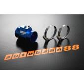 Autobahn88 36mm Tee-Joint Aluminum alloy Water Sensor Adaptors temp Gauge Hose Blue - ASHU60-36B