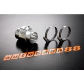 Autobahn88 26mm Tee-Joint Aluminum alloy Water Sensor Adaptors temp Gauge Hose Silver - ASHU60-26S