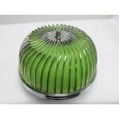 "Autobahn88 Air Filter Power Flow Neck 3"" Green - CAPP022-G"