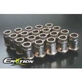 Racing Wheel Nuts Lug 12mm x 1.25 Light 20pcs Titanium - Emotion ( CAPP249S )